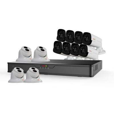 Ultra HD 16-Channel 4TB NVR Surveillance System with 12 4 Megapixel Cameras