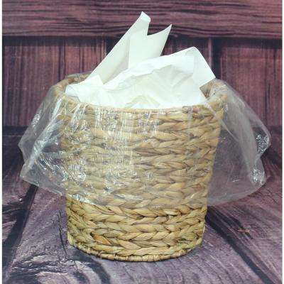 Round Wicker Natural Water Hyacinth Waste Basket