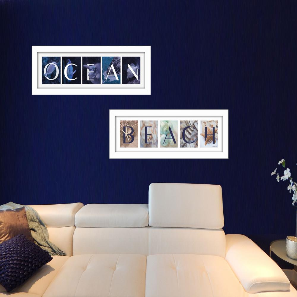 "20 Best Collection Of Large Framed Wall Art: TrendyDecor4U 8 In. X 20 In. ""Ocean/Beach"" Collection By"
