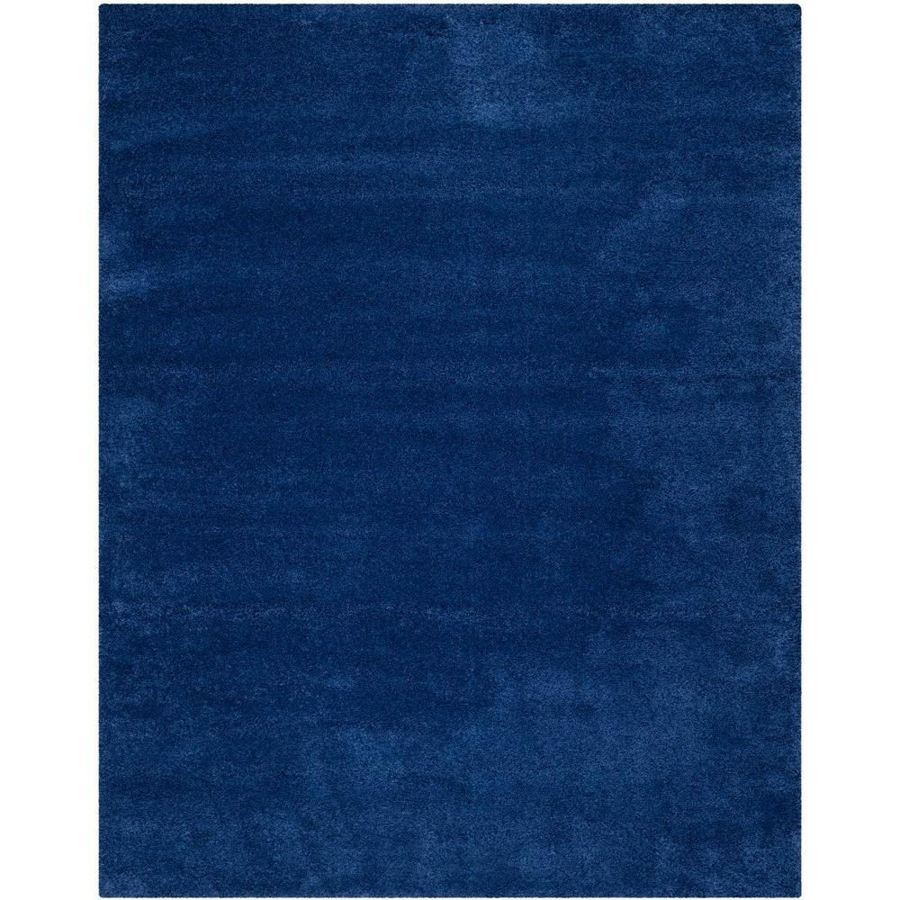 Milan Shag Navy 8 ft. 6 in. x 12 ft. Area