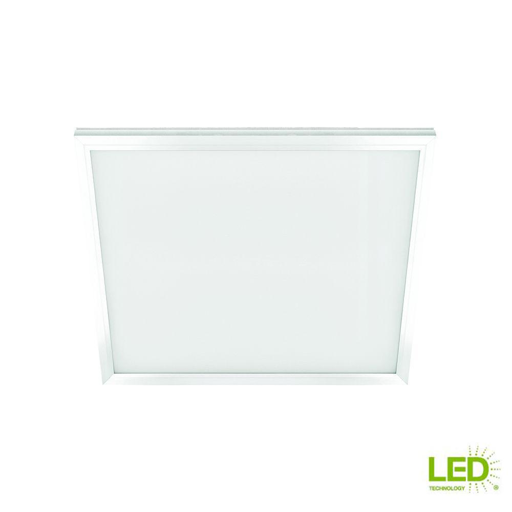 Commercial Electric 1 Ft X 1 Ft White Led Edge Lit Flat