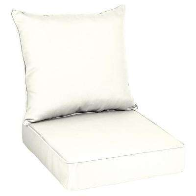 Sunbrella Canvas White Outdoor Lounge Chair Cushion