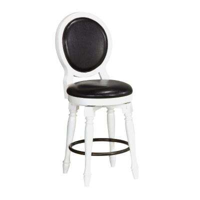 Nantucket 25 in. White Cushioned Bar Stool