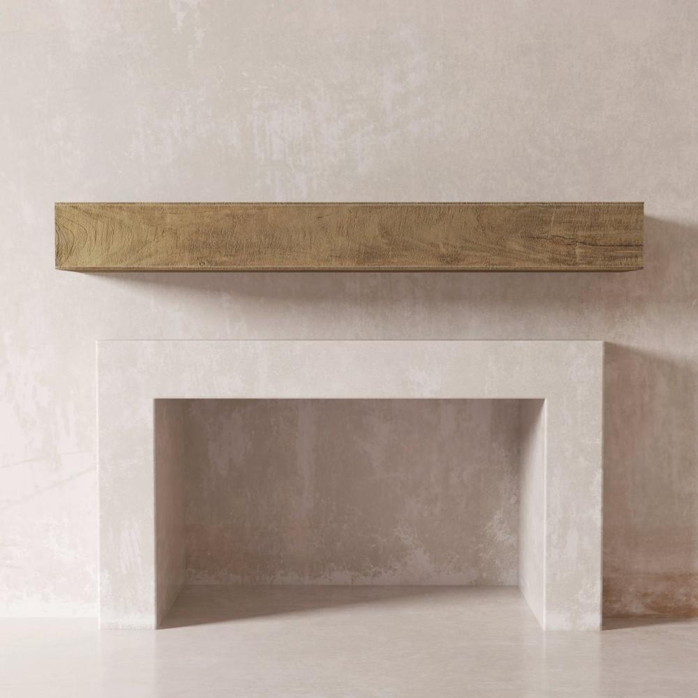 DESSIE 72 in. Fireplace Wall Shelf-Cap Mantel in Natural