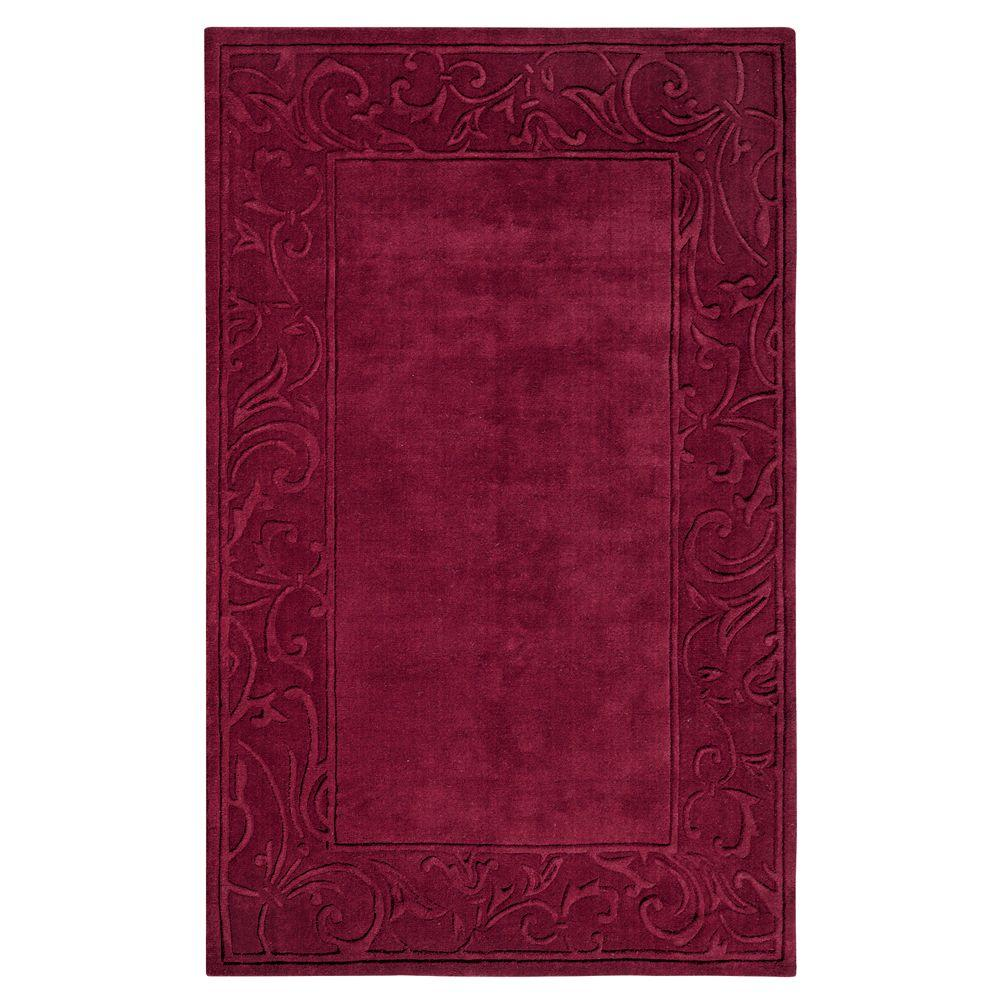 Home Decorators Collection Cyrus Burgundy 8 ft. x 11 ft. Area Rug