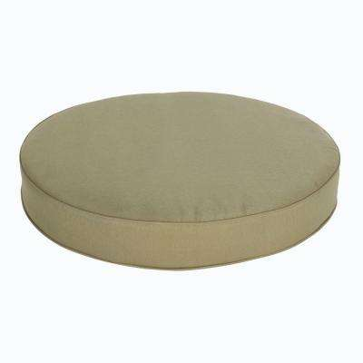 Edington 38 in. Green Round Replacement Patio Ottoman Cushion