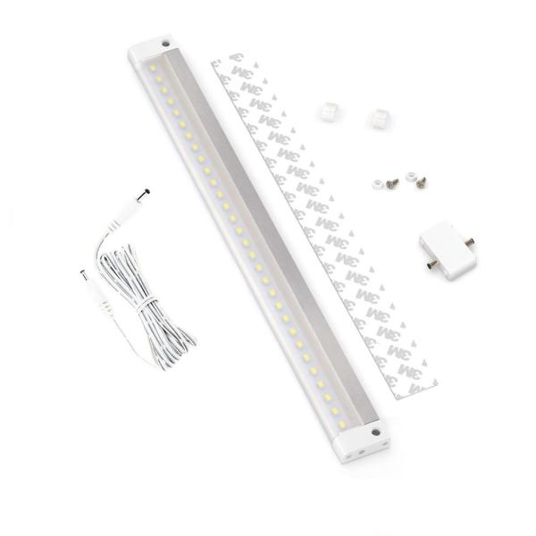 12 in. LED 6000K White Under Cabinet Light No Sensor (No Power Supply Included)