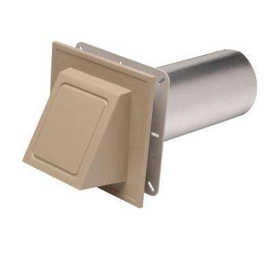 6-3/4 in. x 6-3/4 in. Khaki Hooded Dryer Vent