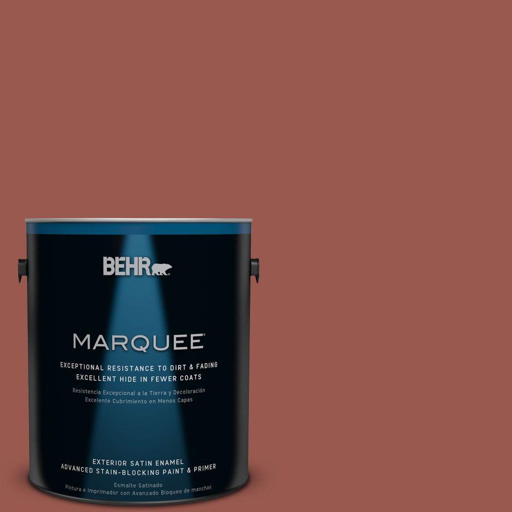 BEHR MARQUEE 1-gal. #ICC-106 Spicy Cayenne Satin Enamel Exterior Paint