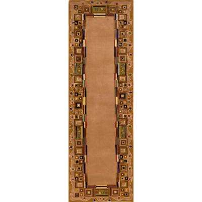 Contempo Gold 3 ft. x 12 ft. Indoor Runner Rug