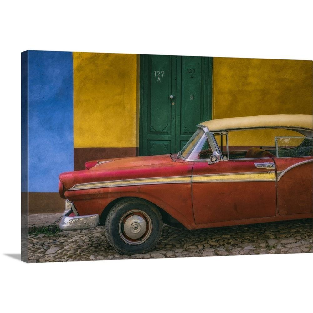 GreatBigCanvas ''Cuba Car'' by Tony Sweet Canvas Wall Art 2507620_24_30x20