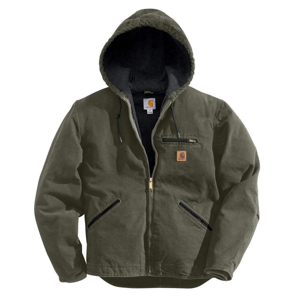 Carhartt Men'S 3 XL Moss Cotton Sierra Jacket Sherpa Lined Sandstone