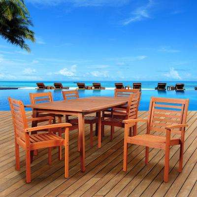 Bellavista 7-Piece Eucalyptus Rectangular Patio Dining Set