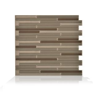 Deals on 4PK Smart Tiles Loft Maronne Peel and Stick Wall Tile Backsplash