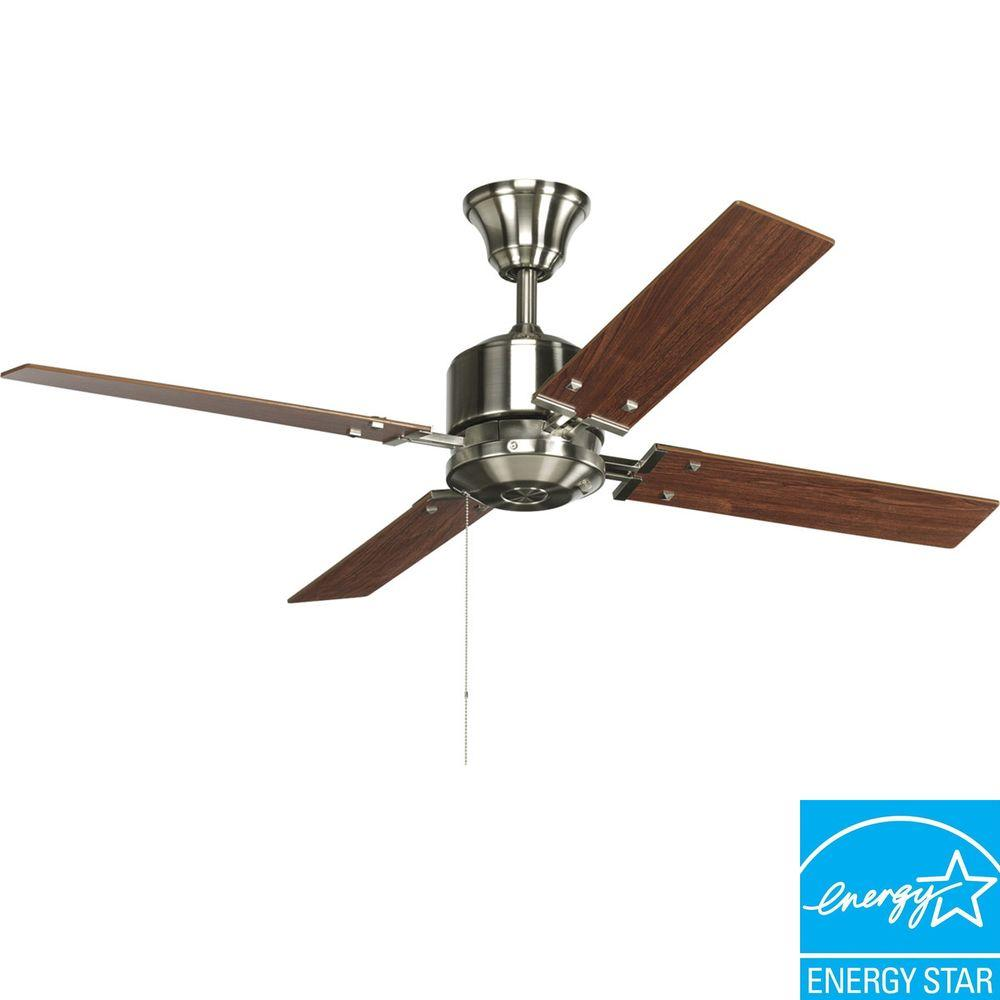 Progress Lighting North Park 52 in. Brushed Nickel Ceiling Fan