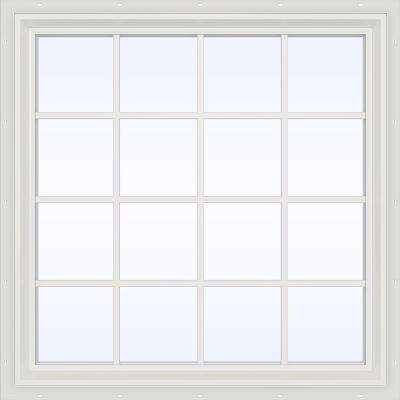 47.5 in. x 47.5 in. V-2500 Series Fixed Picture Vinyl Window with Grids - White