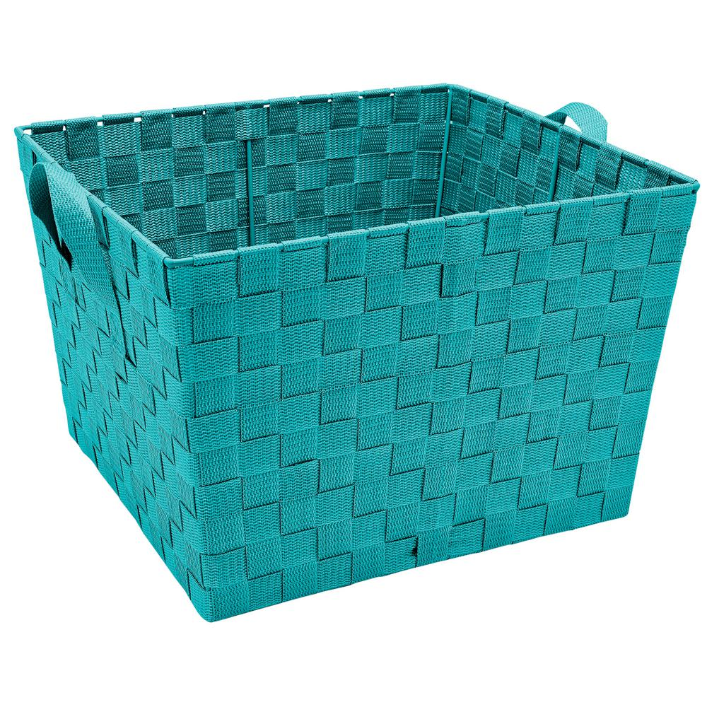 Large Woven Storage Bin  sc 1 st  Home Depot & Simplify 13 in. x 15 in. x 10 in. Large Woven Storage Bin in ...