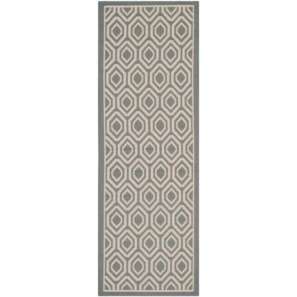 Courtyard Anthracite/Beige 2 ft. 3 in. x 6 ft. 7 in.
