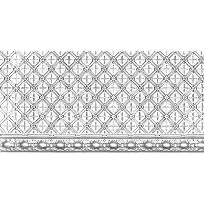 2 ft. x 4 ft. Nail-up Tin Ceiling Tile in Brite Chrome (24 sq. ft. / case)