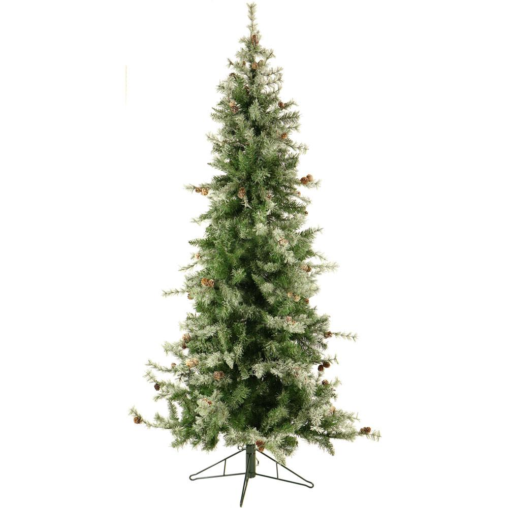 Fraser Hill Farm 6.5 ft. Buffalo Fir Slim Artificial Christmas Tree