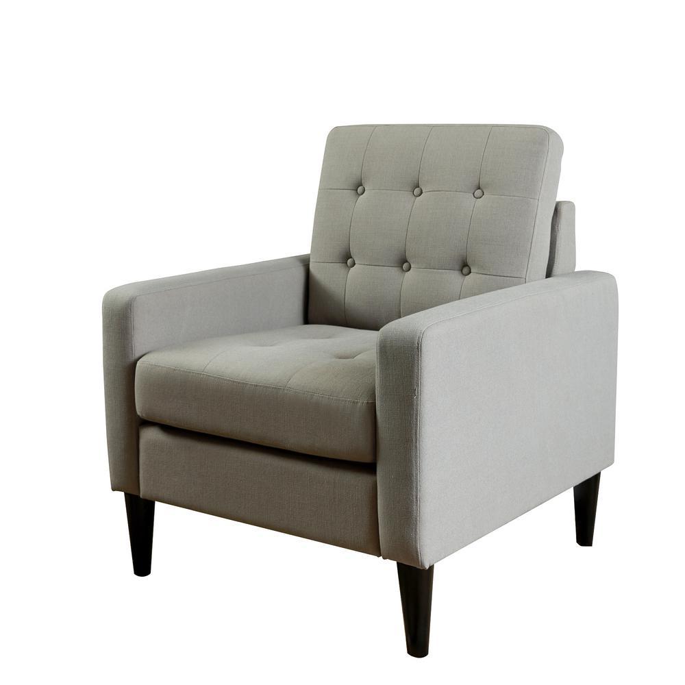 LOKATSE Industrial Gray Upholstery Arm Chair AC18803G