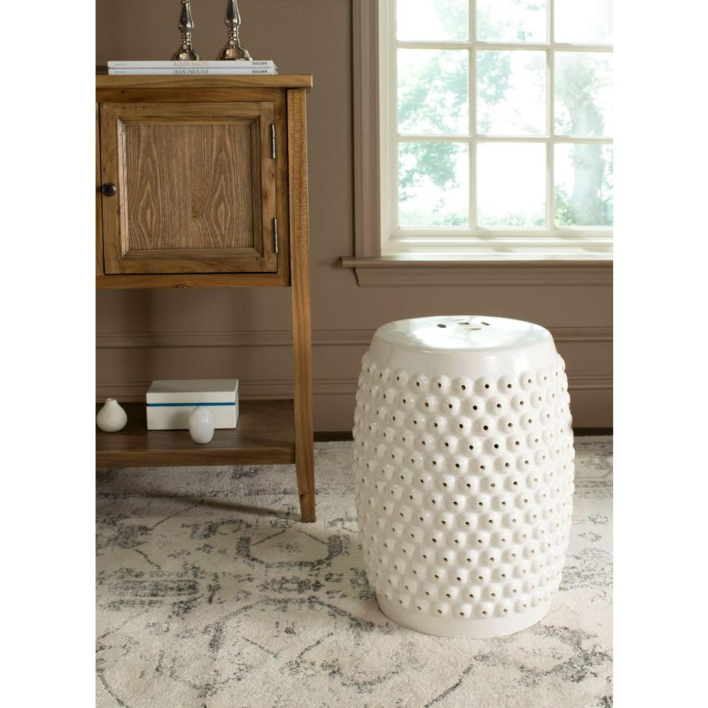 Safavieh Stella Nail Cream Head Patio Stool Acs4530b The
