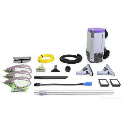 Fully Loaded Super Coach Pro 6 Qt. Commercial Backpack Vacuum Cleaner with ProBlade Tool Kit