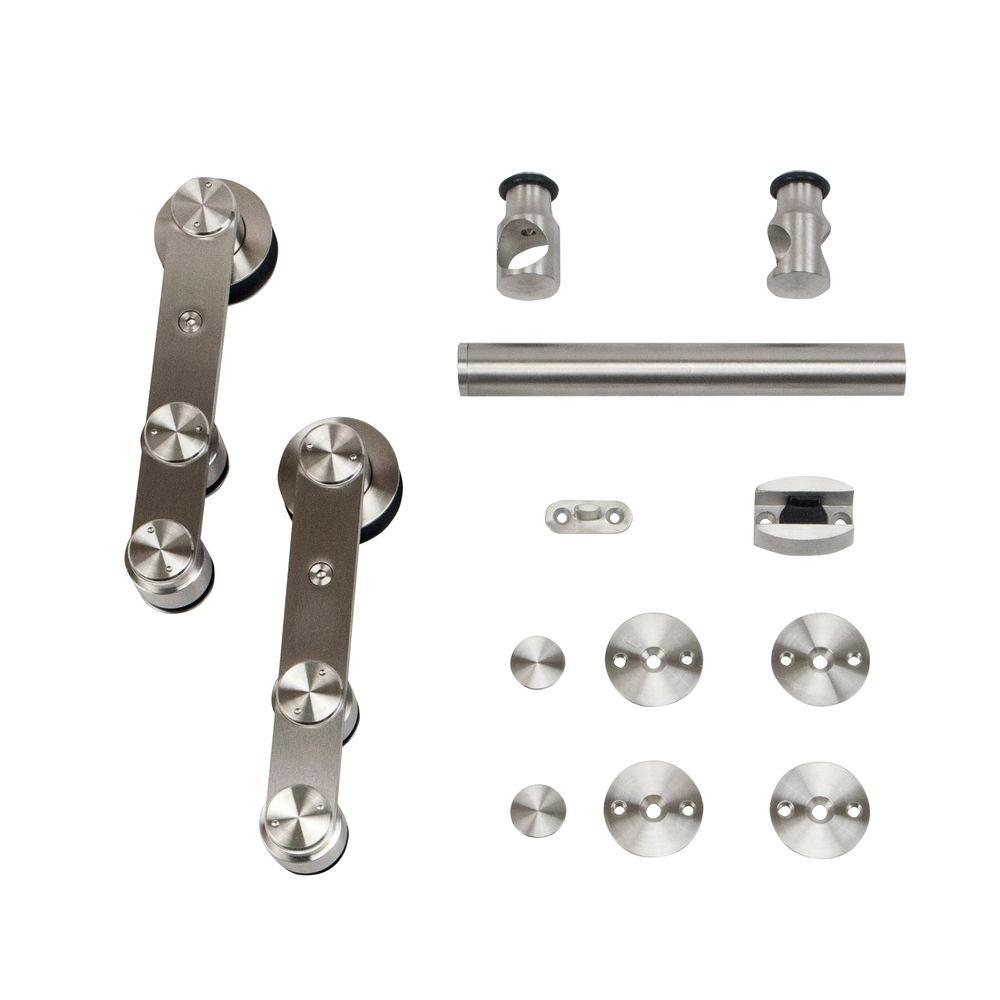 Stainless Glide Stainless Steel Strap Rolling Door Hardware for Wood or Glass Door  sc 1 st  The Home Depot & Stainless Glide Stainless Steel Strap Rolling Door Hardware for Wood ...