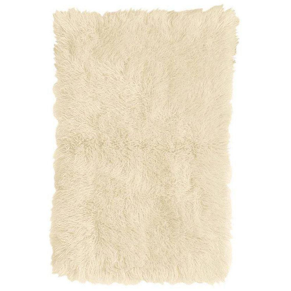 Home Decorators Collection Standard Flokati White 8 ft. x 10 ft. Area Rug