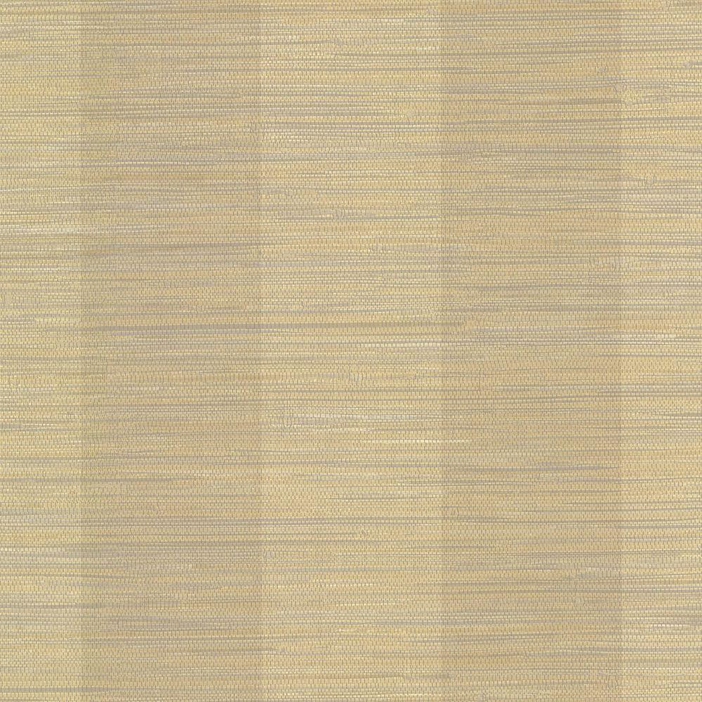 Vertical Grasscloth Wallpaper: Chesapeake Oakland Beige Grasscloth Stripe Wallpaper