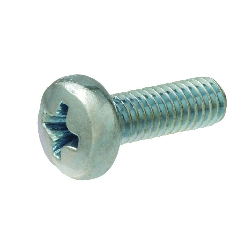 Crown Bolt M3-0.5 x 4 mm. Phillips Pan-Head Machine Screws (3-Pack)
