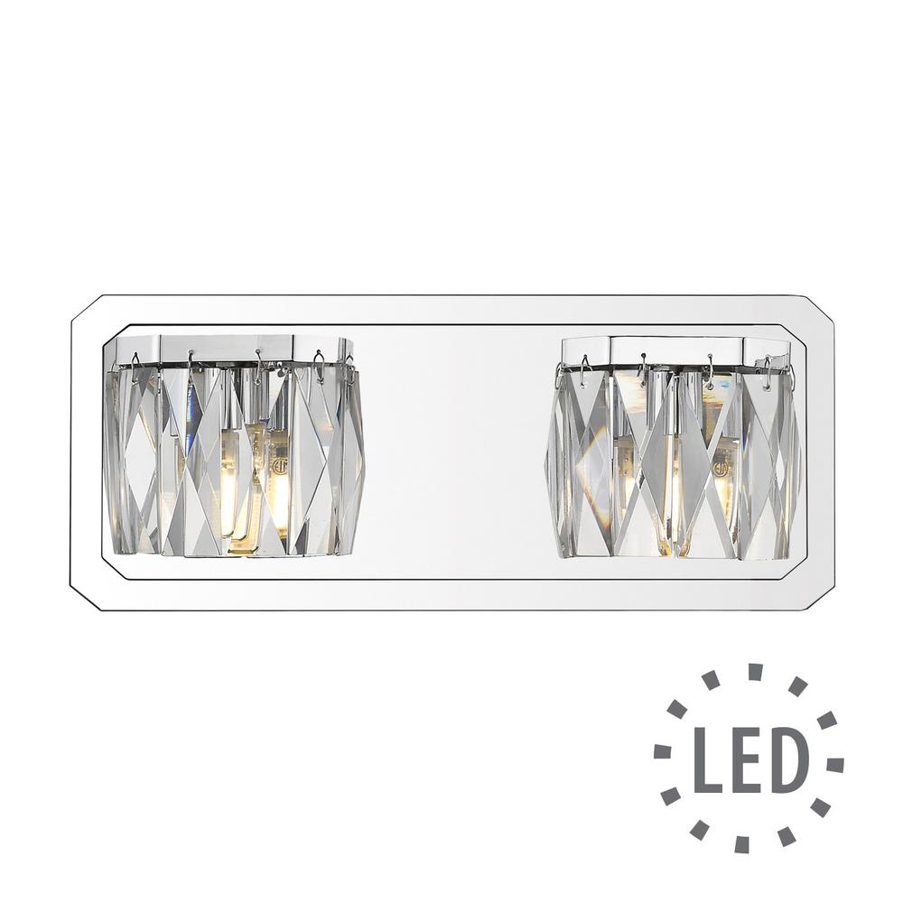 Krysta 2-Light Chrome Bath Light