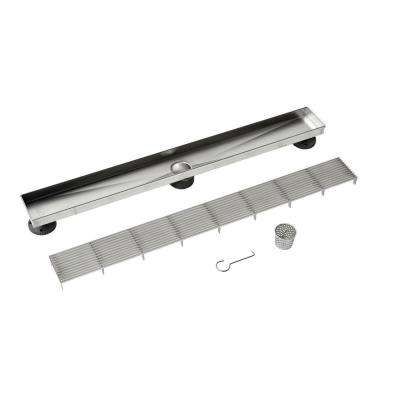 Designline 28 in. Stainless Steel Linear Drain Wedge Wire Grate