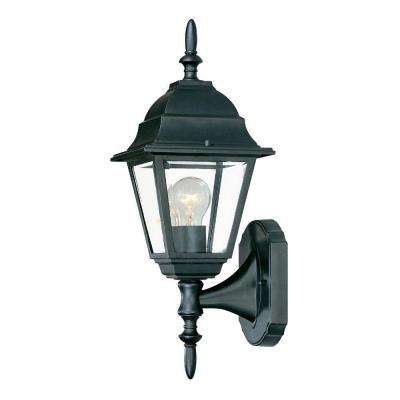 Builder's Choice Collection 1-Light Matte Black Outdoor Wall-Mount Fixture