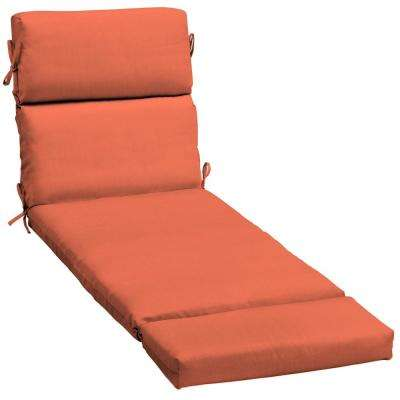 23 x 48 outdoor chaise lounge cushion in sunbrella canvas melon - Chaise Orange