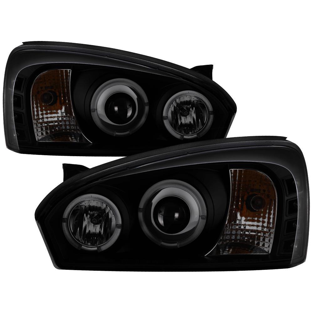 Chevy Malibu 04 07 Projector Headlights Led Halo Replaceable Leds Black Smoke