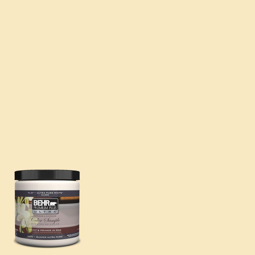 BEHR Premium Plus Ultra 8 oz. #340A-2 Rich Cream Interior/Exterior Paint Sample