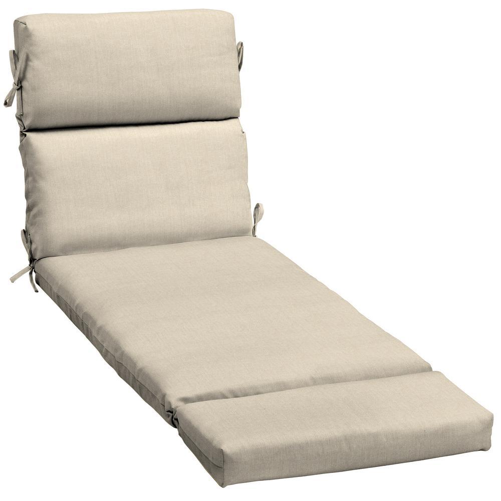 23 x 73 Sunbrella Canvas Flax Outdoor Chaise Lounge Cushion