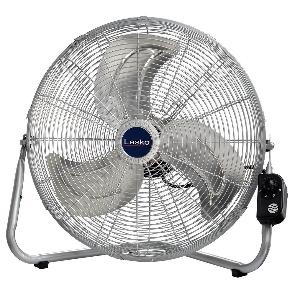 20 in. High-Velocity Floor or Wallmount Fan in Chrome