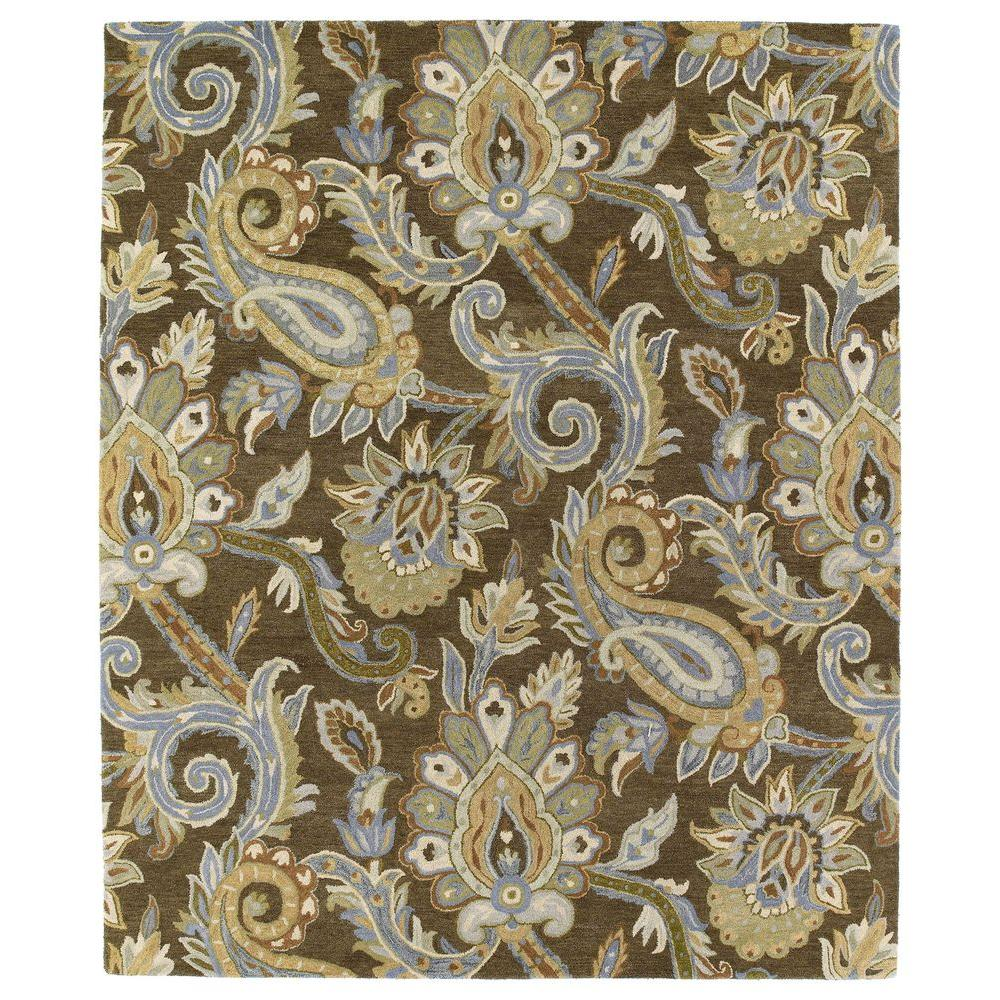 Kaleen Helena Odyusseus Brown 9 ft. x 12 ft. Area Rug