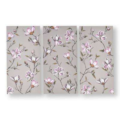 "24 in. x 12 in. ""Magnolia Daydream"" Printed Canvas Wall Art"