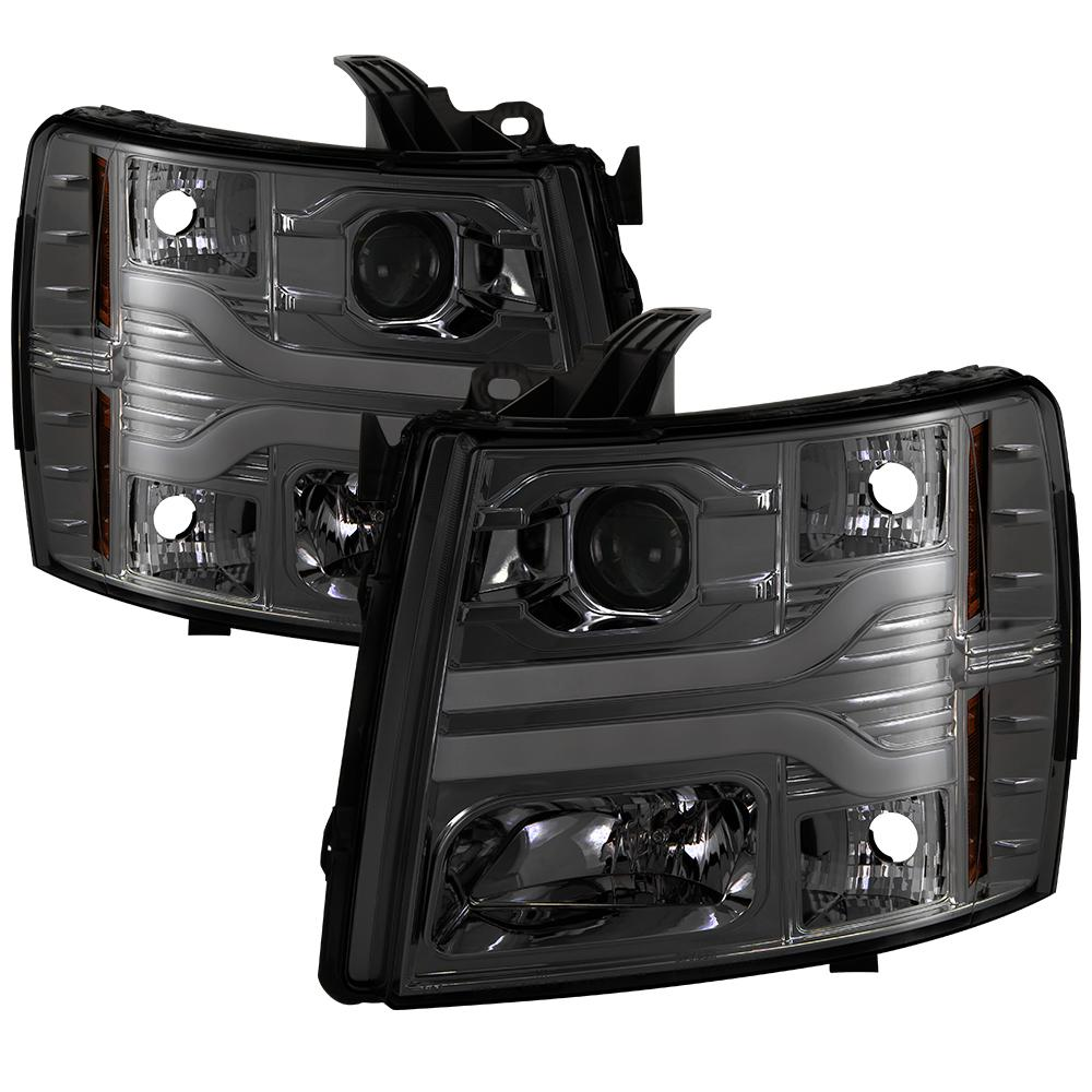 Chevy Silverado 1500 07 13 2500hd 3500hd 14 Version 3 Projector Headlights Led Drl Smoke
