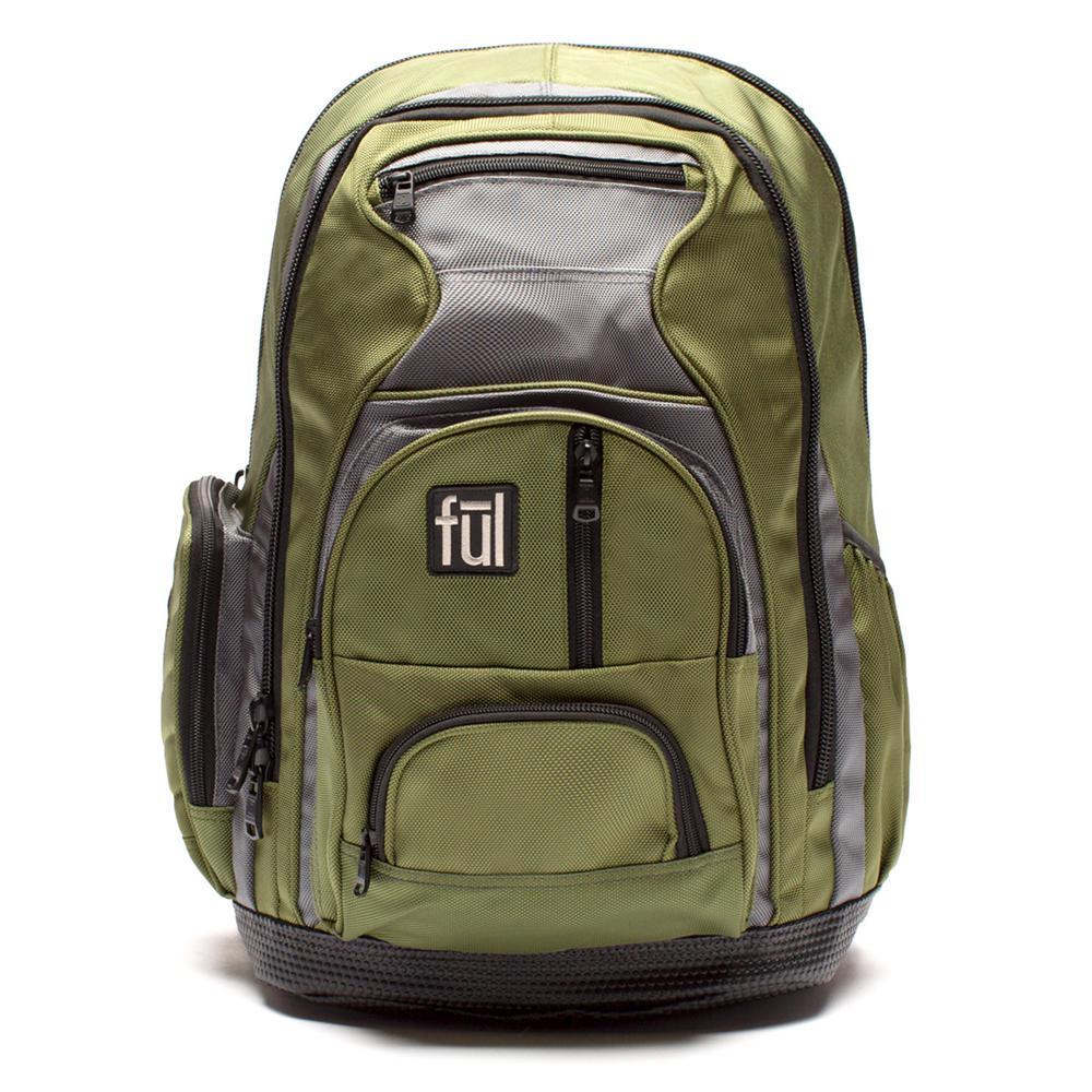 6ce624d7ff Ful Free Fallin  Padded 18 in. Laptop Backpack Green Unisex-ABFL5046 ...