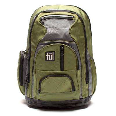 Free Fallin' Padded 18 in. Laptop Backpack Green Unisex
