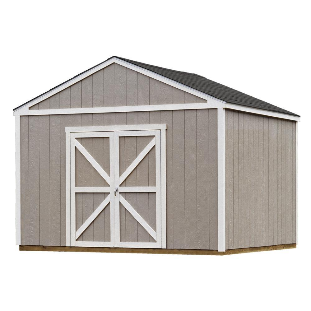 e8846d3e06d Installed Columbia 12 ft. x 12 ft. Wood Storage Shed with Black Onyx  Shingles