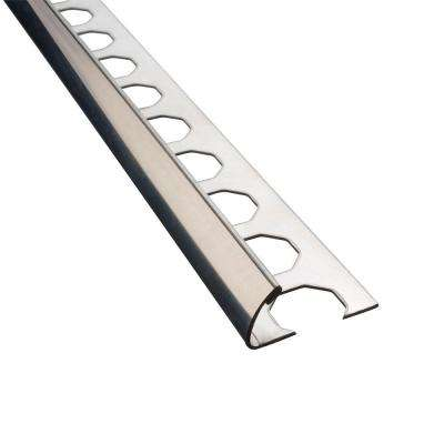 Novocanto High Brightness 3/8 in. x 98-1/2 in. Stainless Steel Tile Edging Trim