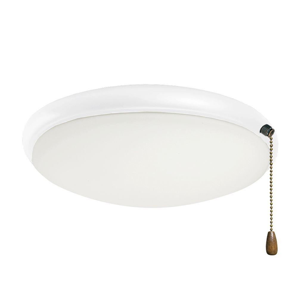 Illumine Zephyr 2-Light Appliance White Ceiling Fan Light Kit