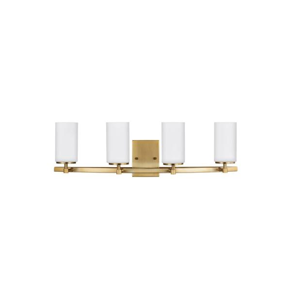 Alturas 4-Light Satin Brass Bath Light