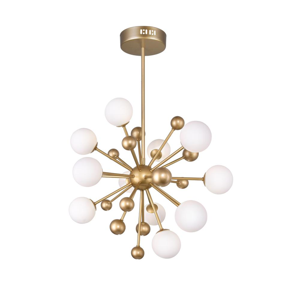 Cwi Lighting Element 11 Light Sun Gold Contemporary Chandelier