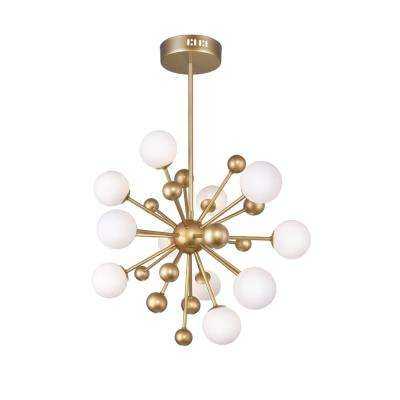 Element 11-Light Sun Gold Contemporary Chandelier